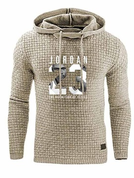 Ericdress Pullover Letter Men's Casual Hoodies