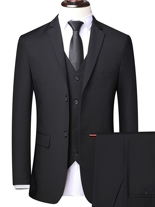 Ericdress Single-Breasted Plain Formal Men's Suit