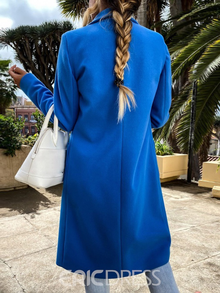 Ericdress Long Button Double-Breasted Long Sleeve Fall Trench Coat