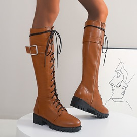 Ericdress Plain Side Zipper Block Heel Western Boots