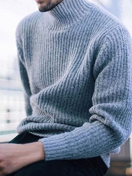 Ericdress Standard Turtleneck Plain Loose Winter Sweater
