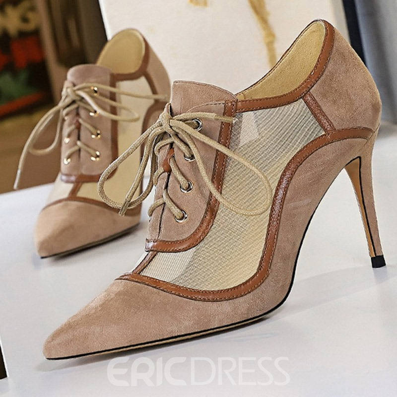 Ericdress Hollow Stiletto Heel Pointed Toe Low-Cut Upper Thin Shoes