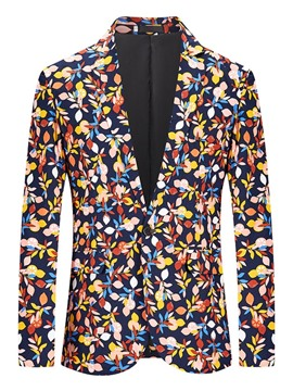Ericdress Casual Print Notched Lapel Leisure Blazer
