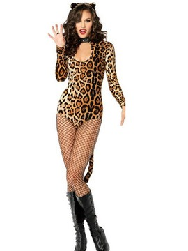 ericdress leopardo occidental sexy trajes de otoño