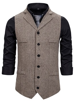 Ericdress Plain Single-Breasted Fall Waistcoat