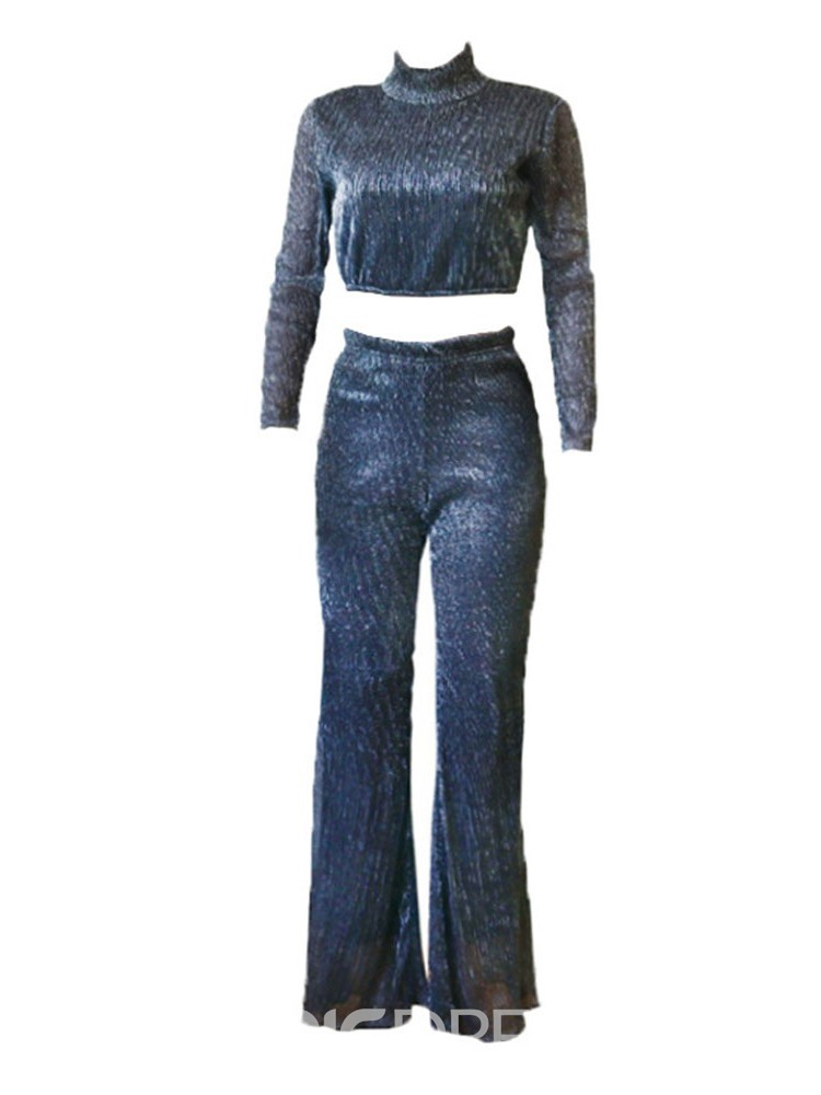 Ericdress Fashion T-Shirt Plain Bellbottoms Pullover Two Piece Sets