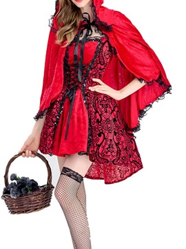 Ericdress Vintage Print Color Block All-Season Classic Halloween Costumes