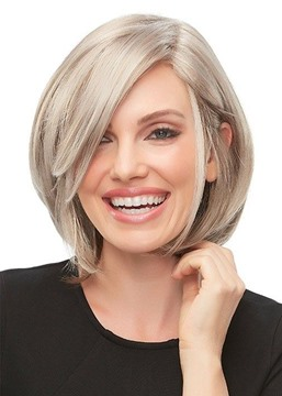 Ericdress Women's Short Bob Hairstyle Blonde Color Straight Synthetic Hair Capless Wigs 12Inch
