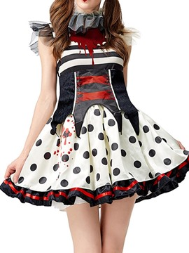 Ericdress Mesh Polka Dots Sleeveless Classic Halloween Summer Costumes
