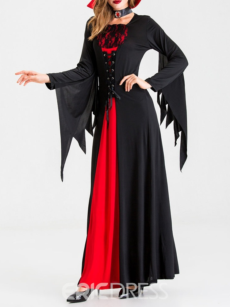 Ericdress Long Sleeve Color Block Patchwork All-Season Cotton Blends Costumes
