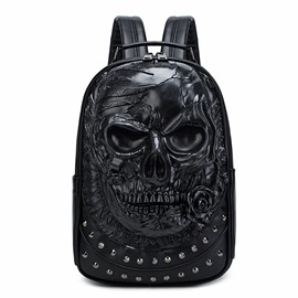 Ericdress Skull PU Rivet Backpacks