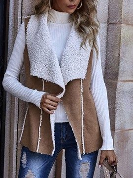Ericdress Lapel Plain Mid-Length Fall Vest