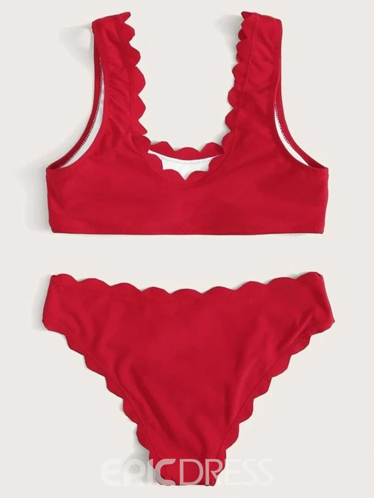ericdress sexy color block tankini set traje de baño