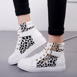 Ericdress Round Toe Zipper Buckle PU Sneakers