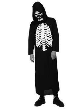 Ericdress Classic Halloween Skull Print Long Sleeve Costumes