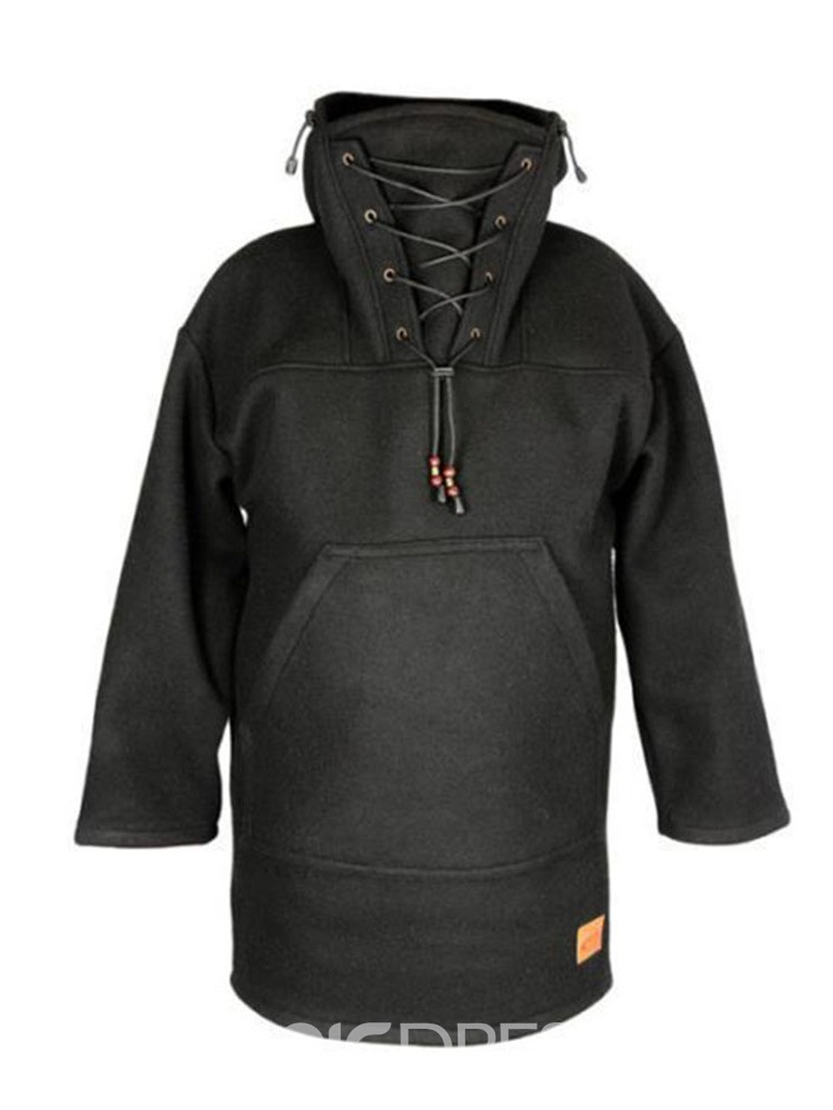 Ericdress Pocket Pullover Thick Pullover Winter Hoodies