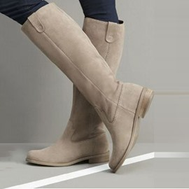 Ericdress Block Heel Plain Side Zipper Thread Boots