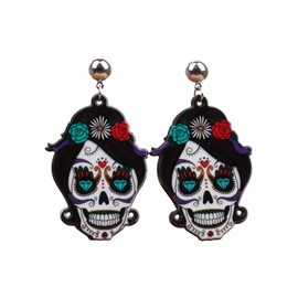 Ericdress Halloween Skull European Prom Earrings
