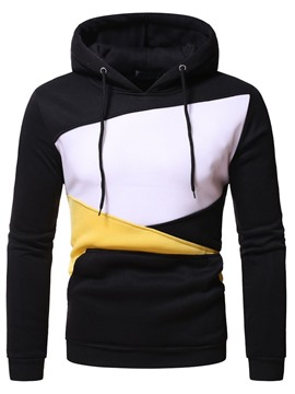 Ericdress Color Block Pullover Patchwork schlanke lässige Hoodies