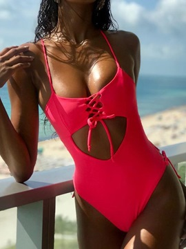 Ericdress Sexy Plain Lace-Up Women's Swimwear