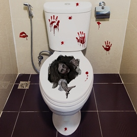 Ericdress Halloween Bathroom Floor Wall Stickers / Wall Decorations