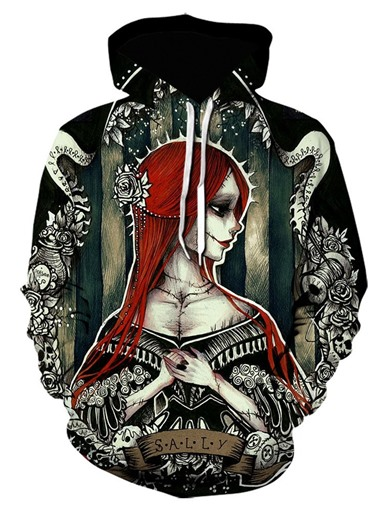 Ericdress Pullover Print Fall Hooded Hoodies