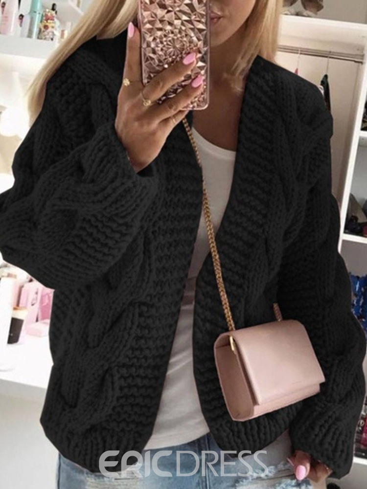 Ericdress Regular Thick Loose Hooded Sweater