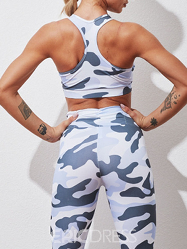 Ericdress Print Polyester Camouflage Breathable Pullover Ankle Length Clothing Sets