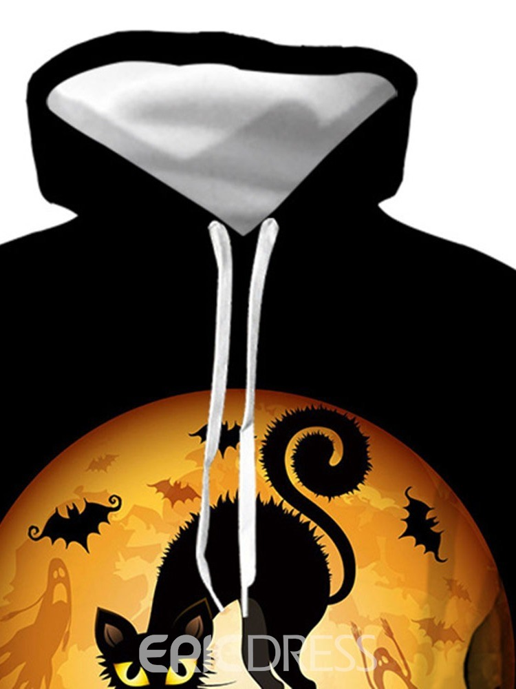 Ericdress Animal Pullover Print Pullover Loose Hoodies