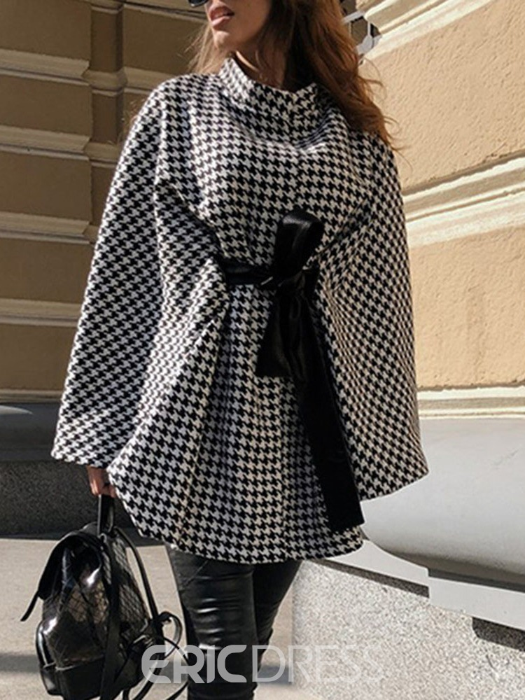 Ericdress Western Houndstooth Fall Cape
