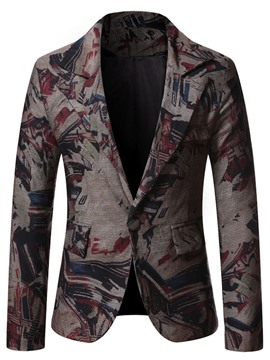 Ericdress Casual Print Slim Leisure Blazer