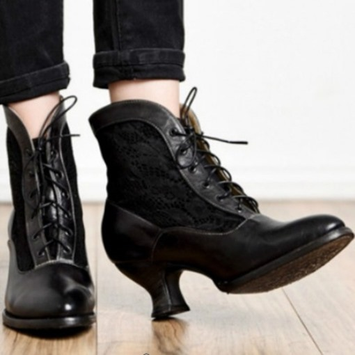 Ericdress Patchwork Round Toe Chunky Heel Western Boots
