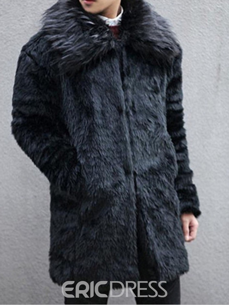 Ericdress Plain Lapel Mid-Length European Winter Coat