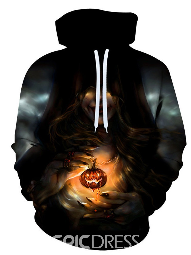 Ericdress Print Pullover Pullover Loose Hoodies