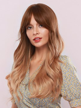 Ericdress 130% Density Sexy Women's Brown Color Body Wave Synthetic Hair Capless Wigs 28Inches