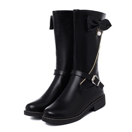 Ericdress Round Toe Plain Side Zipper Casual Women's Boots