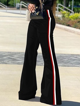 Ericdress Color Block Loose Bellbottoms Full Length Casual Pants