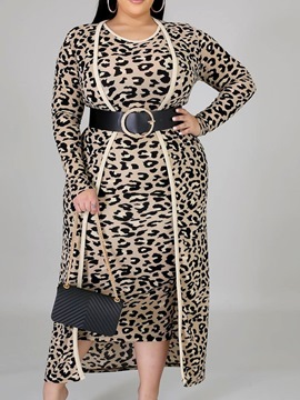 Ericdress Dress Western Leopard Bodycon Two Piece Sets