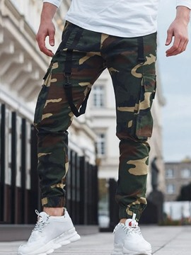 Ericdress Cargo Pants Pencil Pants Camouflage Pocket Mid Waist Casual Casual Pants