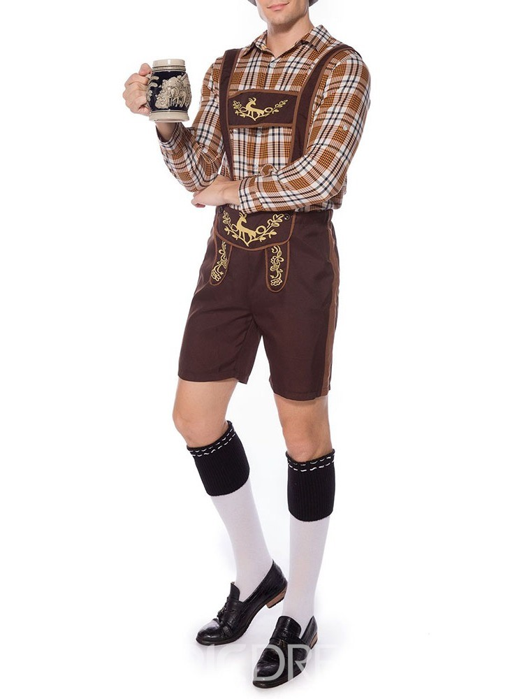 Ericdress Suspenders Profession Plaid Long Sleeve Costumes