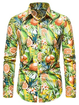 Ericdress Casual Print Floral Single-Breasted Spring Shirt