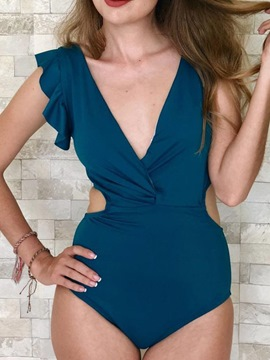 Ericdress Sexy Plain One Piece Slim Swimwear