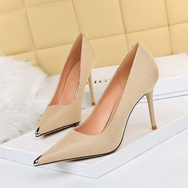 Ericdress Sequin Pointed Toe Stiletto Heel Patchwork Thin Shoes