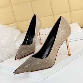 Ericdress Stiletto Heel Pointed Toe Sequin Banquet Thin Shoes