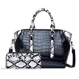 ericdress pu tote bags rectangle en fil d'alligator