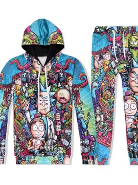 Ericdress Cartoon Hoodie Print Frühlingsoutfit
