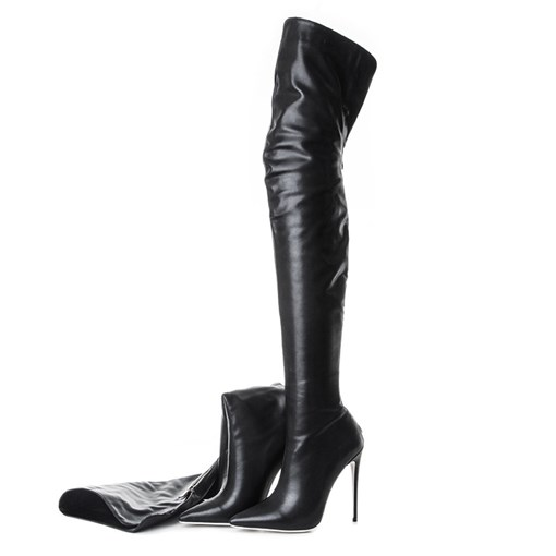 Ericdress Plain Back Zip Pointed Toe Short Floss Boots