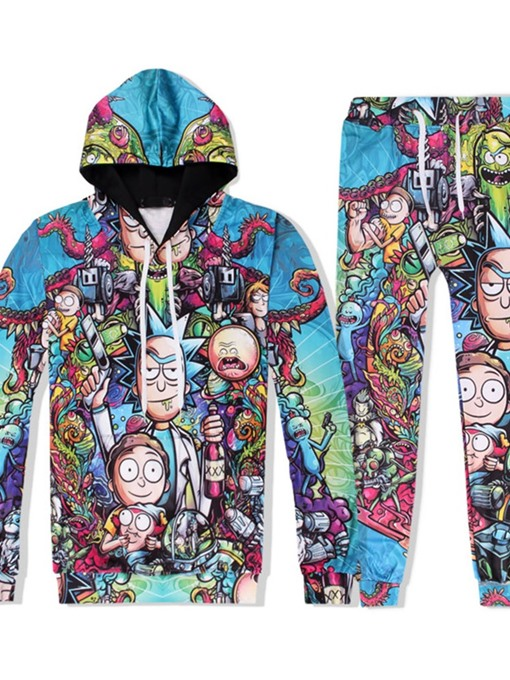 Ericdress Cartoon Hoodie Print Spring Outfit