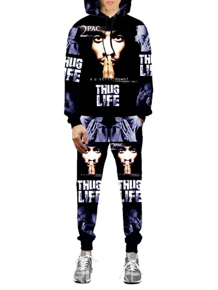 Ericdress Letter Print Hip Hop Herbst Outfit