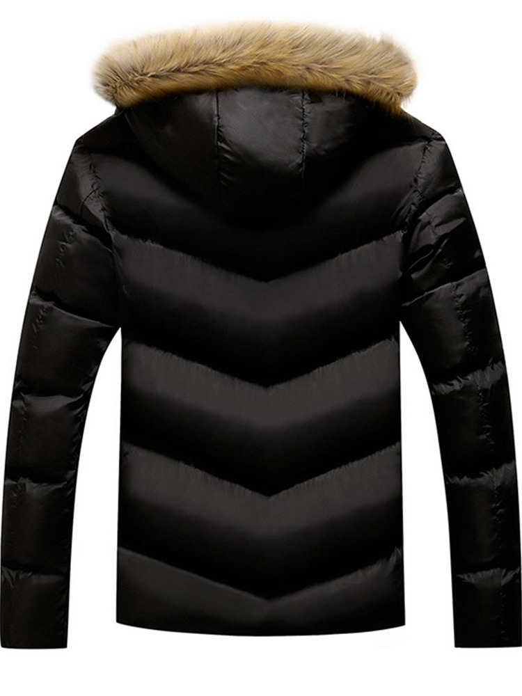 Ericdress Standard Plain Hooded Zipper Casual Down Jacket